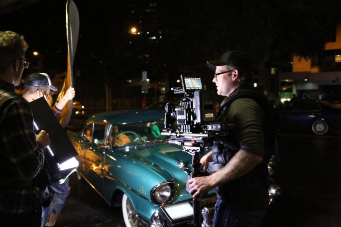 Sukh-e music video shoot – action.